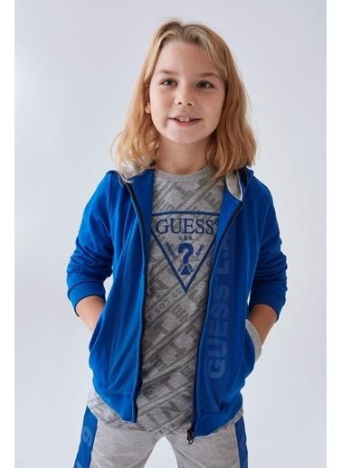 Guess Erkek Çocuk Mavi Eşofman Üstü Mavi